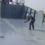Cleaning of tanks for surface preparation